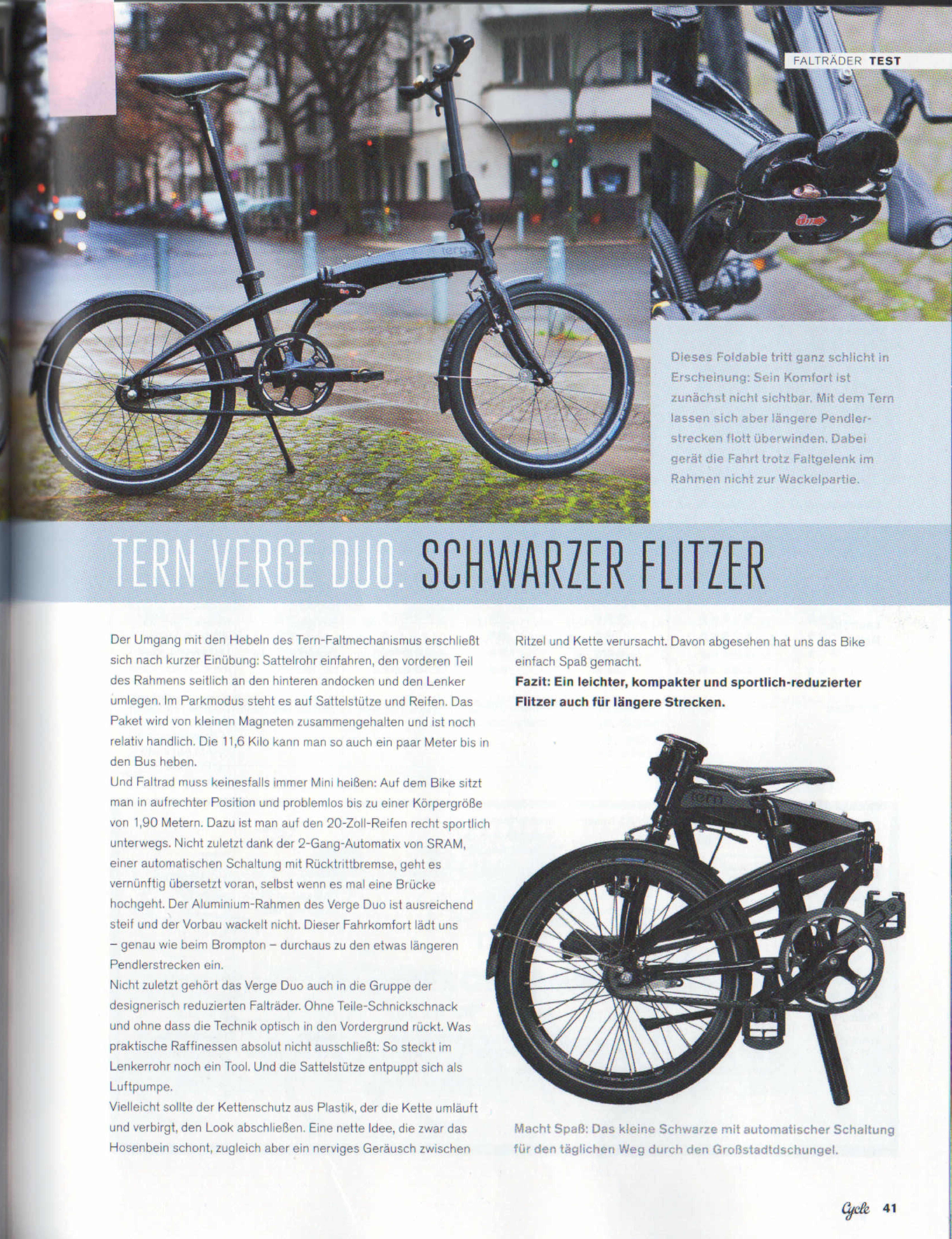 Tern Verge Duo: Schwarzer Flitzer | Tern Folding Bikes | Switzerland