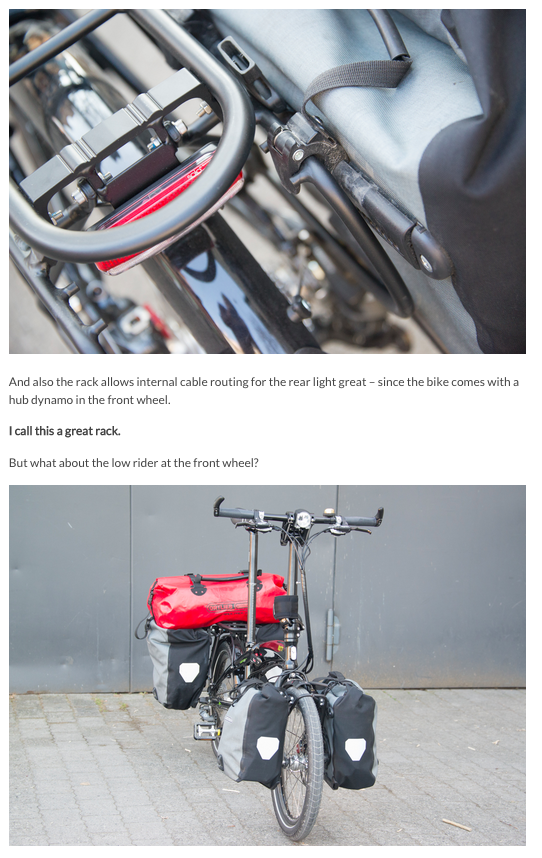 Tern Verge S27h Folding Touring Bicycle A First Review
