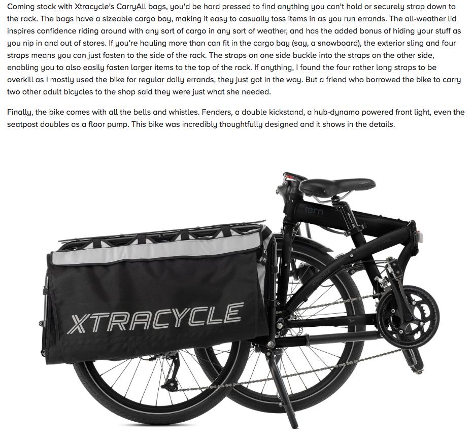 The Cargo Node Folding Cargo Bike Review Tern Folding
