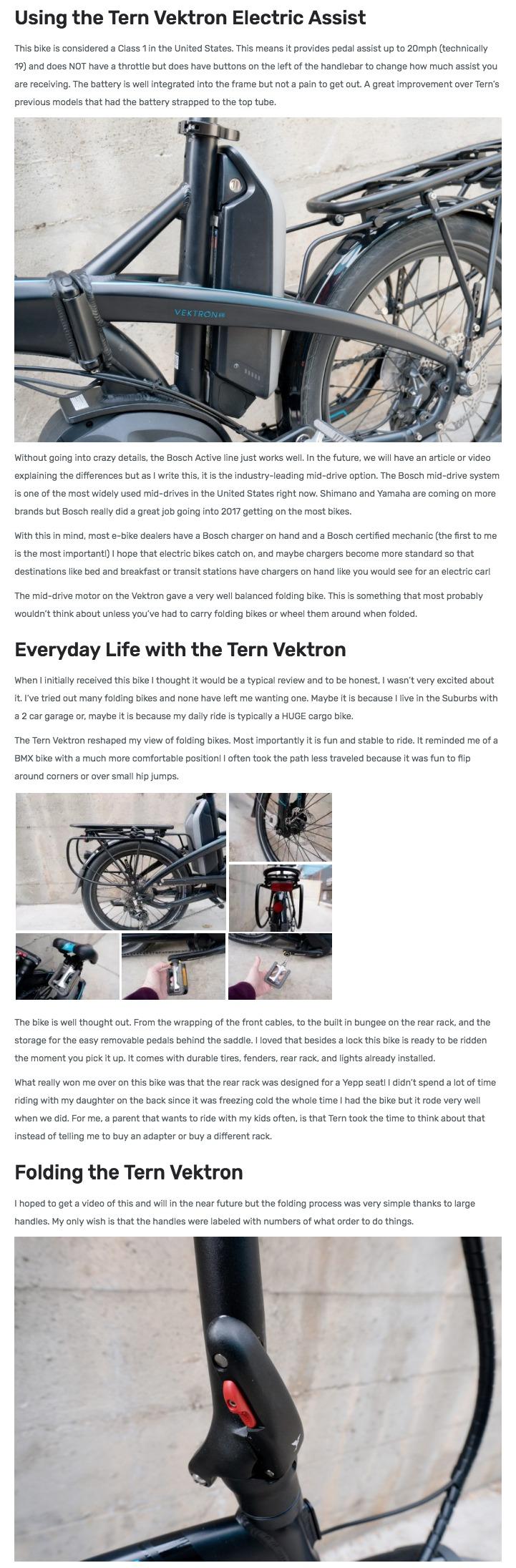 Tern Vektron S10 Folding Electric Bike Review Tern