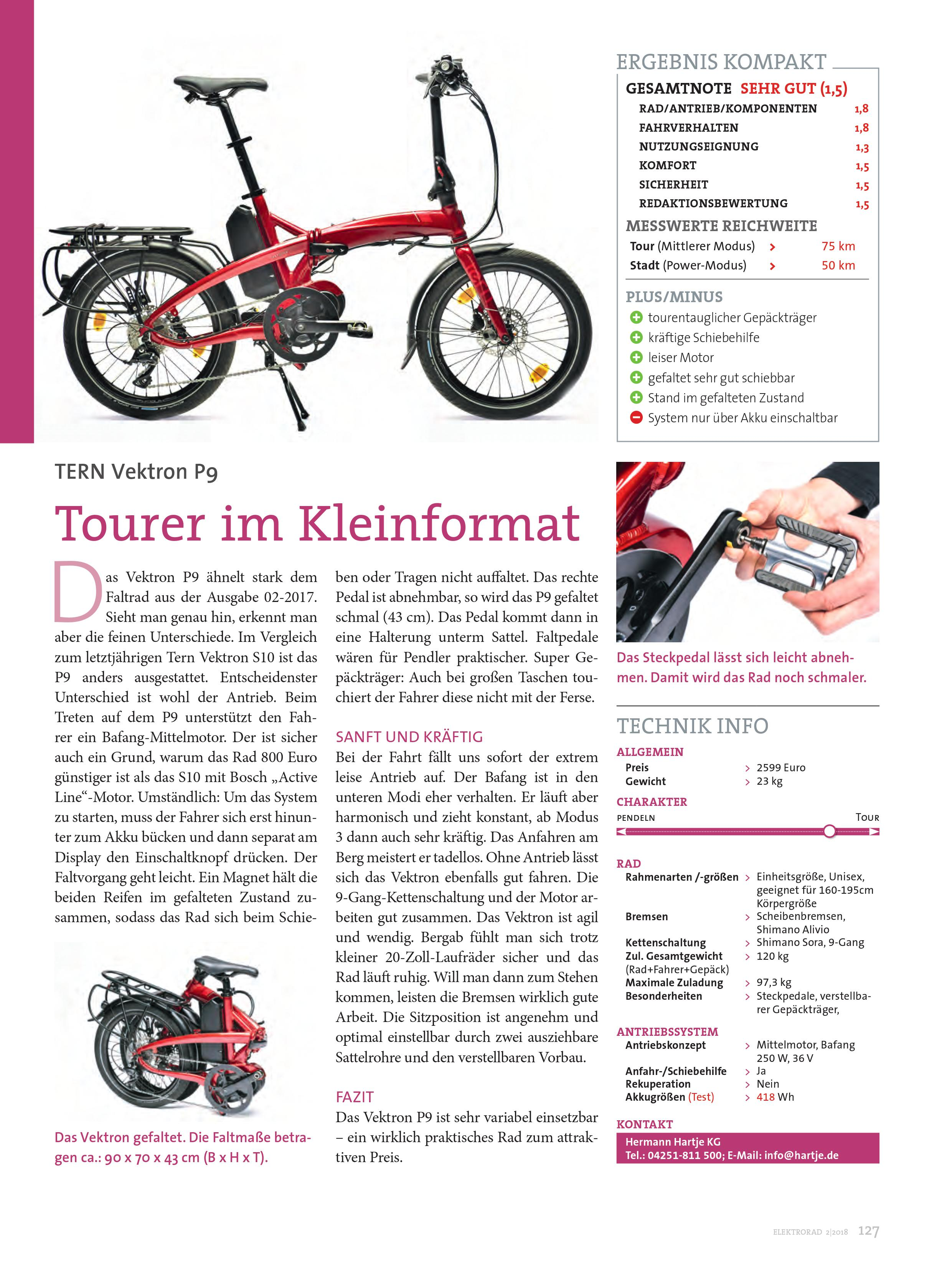 Tern Vektron P9 Tern Folding Bikes United Kingdom